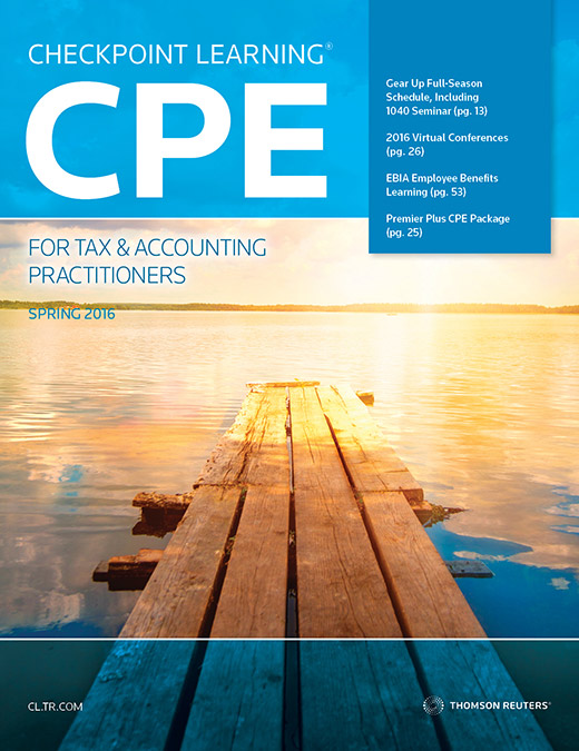 CPE Catalog for Tax & Accounting Practitioners