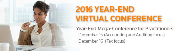 VIRTUAL CONFERENCES - Year-End Virtual Conference.  Learn more...