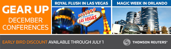 Gear Up December CPE Conferences - Royal Flush in Las Vegas and Magic Week in Orlando.  Learn more...